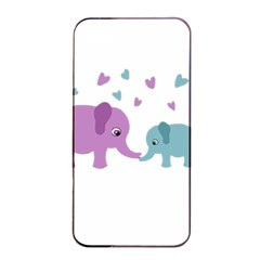 Elephant Love Apple Iphone 4/4s Seamless Case (black) by Valentinaart