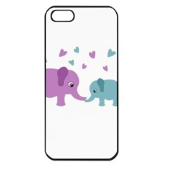 Elephant Love Apple Iphone 5 Seamless Case (black) by Valentinaart