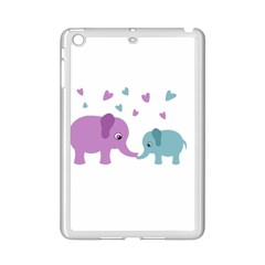 Elephant Love Ipad Mini 2 Enamel Coated Cases by Valentinaart