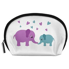Elephant Love Accessory Pouches (large)  by Valentinaart