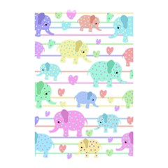 Elephant Pastel Pattern Shower Curtain 48  X 72  (small)