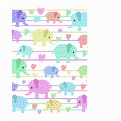 Elephant Pastel Pattern Small Garden Flag (two Sides)