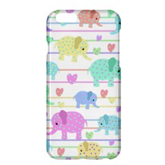 Elephant Pastel Pattern Apple Iphone 6 Plus/6s Plus Hardshell Case by Valentinaart