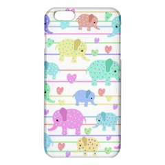 Elephant Pastel Pattern Iphone 6 Plus/6s Plus Tpu Case by Valentinaart