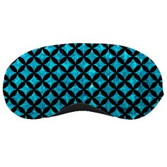 Circles3 Black Marble & Turquoise Marble (r) Sleeping Mask
