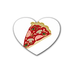 Pizza Slice Heart Coaster (4 Pack)  by Valentinaart