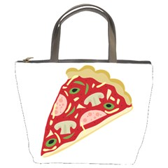 Pizza Slice Bucket Bags by Valentinaart