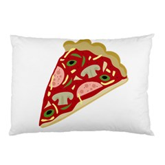 Pizza Slice Pillow Case by Valentinaart