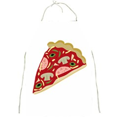 Pizza Slice Full Print Aprons by Valentinaart