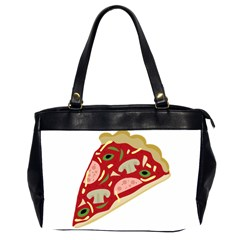 Pizza Slice Office Handbags (2 Sides)  by Valentinaart