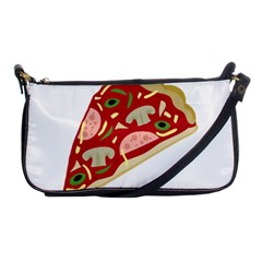 Pizza Slice Shoulder Clutch Bags by Valentinaart