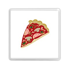 Pizza Slice Memory Card Reader (square)  by Valentinaart