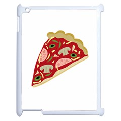 Pizza Slice Apple Ipad 2 Case (white) by Valentinaart
