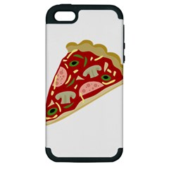 Pizza Slice Apple Iphone 5 Hardshell Case (pc+silicone) by Valentinaart