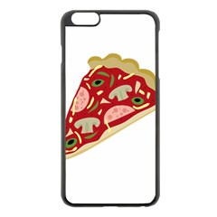 Pizza Slice Apple Iphone 6 Plus/6s Plus Black Enamel Case by Valentinaart