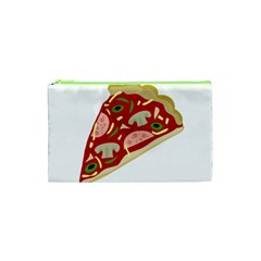 Pizza Slice Cosmetic Bag (xs) by Valentinaart