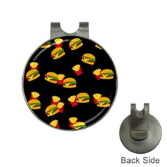 Hamburgers And French Fries Pattern Hat Clips With Golf Markers by Valentinaart