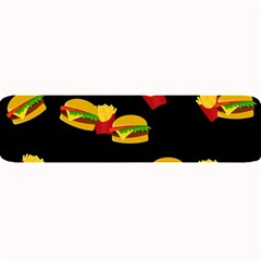 Hamburgers And French Fries Pattern Large Bar Mats by Valentinaart