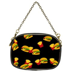 Hamburgers And French Fries Pattern Chain Purses (one Side)  by Valentinaart
