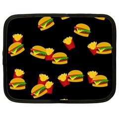 Hamburgers And French Fries Pattern Netbook Case (xxl)  by Valentinaart