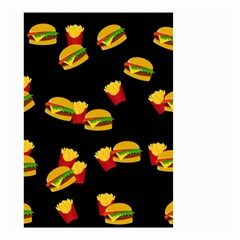 Hamburgers And French Fries Pattern Small Garden Flag (two Sides)