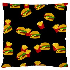 Hamburgers And French Fries Pattern Large Cushion Case (two Sides)