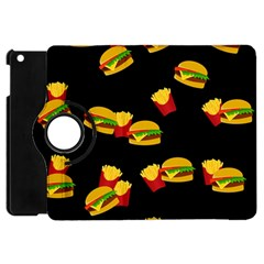 Hamburgers And French Fries Pattern Apple Ipad Mini Flip 360 Case by Valentinaart