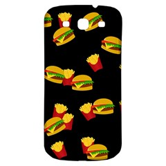 Hamburgers And French Fries Pattern Samsung Galaxy S3 S Iii Classic Hardshell Back Case by Valentinaart