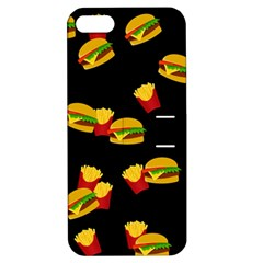 Hamburgers And French Fries Pattern Apple Iphone 5 Hardshell Case With Stand by Valentinaart