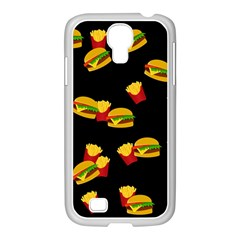 Hamburgers And French Fries Pattern Samsung Galaxy S4 I9500/ I9505 Case (white) by Valentinaart