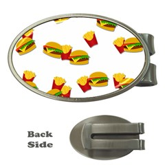 Hamburgers And French Fries  Money Clips (oval)  by Valentinaart