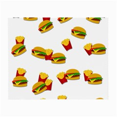 Hamburgers And French Fries  Small Glasses Cloth by Valentinaart