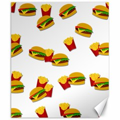 Hamburgers And French Fries  Canvas 20  X 24   by Valentinaart