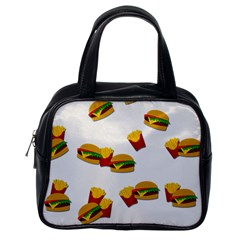 Hamburgers And French Fries  Classic Handbags (one Side) by Valentinaart