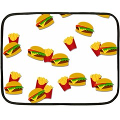Hamburgers And French Fries  Double Sided Fleece Blanket (mini)  by Valentinaart