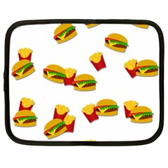Hamburgers And French Fries  Netbook Case (xxl)  by Valentinaart