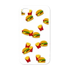 Hamburgers And French Fries  Apple Iphone 4 Case (white)