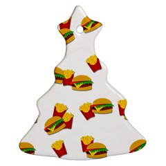 Hamburgers And French Fries  Christmas Tree Ornament (two Sides)