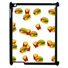 Hamburgers And French Fries  Apple Ipad 2 Case (black) by Valentinaart