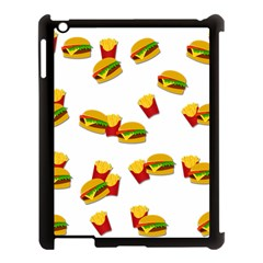 Hamburgers And French Fries  Apple Ipad 3/4 Case (black) by Valentinaart
