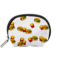 Hamburgers And French Fries  Accessory Pouches (small)  by Valentinaart
