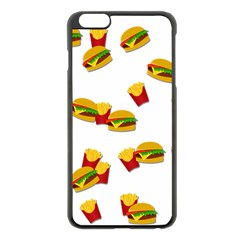 Hamburgers And French Fries  Apple Iphone 6 Plus/6s Plus Black Enamel Case by Valentinaart