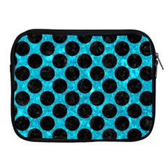 Circles2 Black Marble & Turquoise Marble (r) Apple Ipad Zipper Case by trendistuff