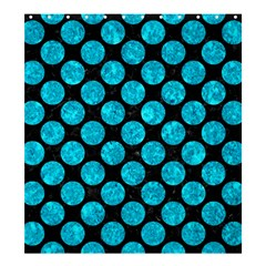 Circles2 Black Marble & Turquoise Marble Shower Curtain 66  X 72  (large) by trendistuff