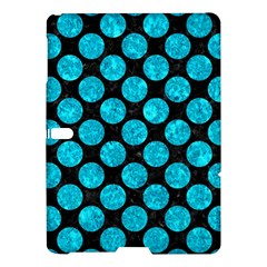Circles2 Black Marble & Turquoise Marble Samsung Galaxy Tab S (10 5 ) Hardshell Case  by trendistuff