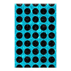 Circles1 Black Marble & Turquoise Marble (r) Shower Curtain 48  X 72  (small) by trendistuff
