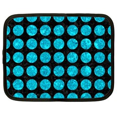 Circles1 Black Marble & Turquoise Marble Netbook Case (xxl) by trendistuff