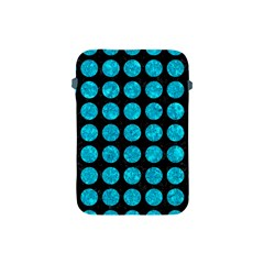 Circles1 Black Marble & Turquoise Marble Apple Ipad Mini Protective Soft Case by trendistuff
