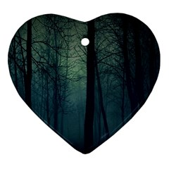 Dark Forest Ornament (heart) by Brittlevirginclothing