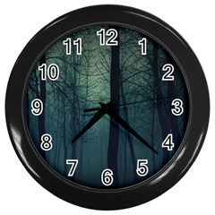 Dark Forest Wall Clocks (black) by Brittlevirginclothing